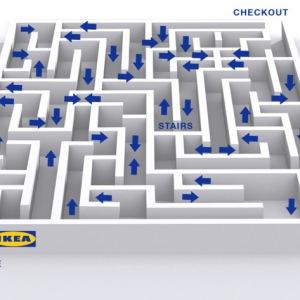 Карта лабиринка магазина ИКЕА