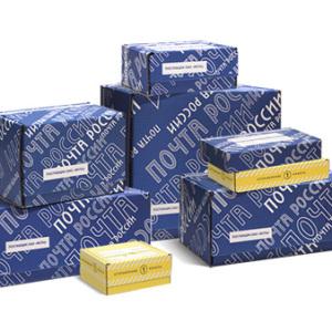 Посылочные коробки разных размеров от Почты России